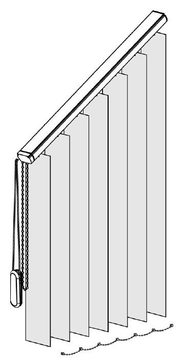 Šikmina vertikální žaluzie