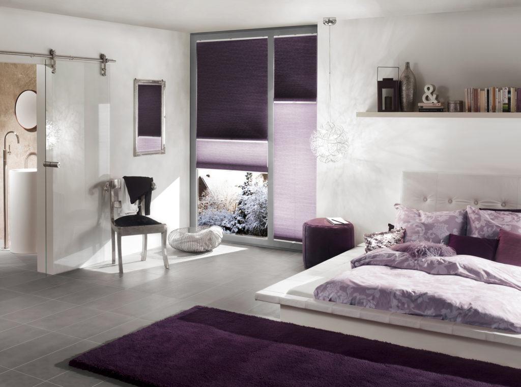 fialové plisé Erfal